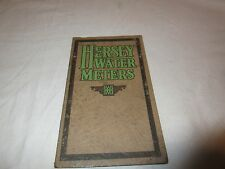Vintage 1928 Hersey Water Meters Price List and Pocket Catalog Pamphlet Rare Pic