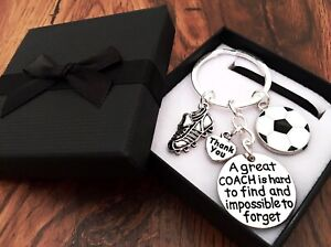 FOOTBALL A GREAT COACH, Thank You Keyring In a GIFT BOX