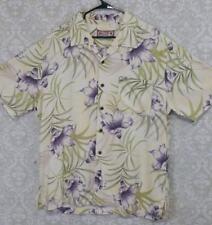 Caribbean Joe ivory Hawaiian Aloha Shirt Tropical Vacation Hibiscus Men's XL