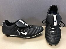 Nike Tiempo Premier Black Soccer Cleats Shoes 117415 011 Men's Size 12