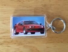 Vintage Motor Trend Key Ring/Keychain Sports/Concept Car Lucite Plastic 2-Sided