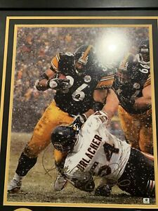 Jerome Bettis Signed Over Brian Urlacher 16x20 Photo 23x29 Matted Frame W/COA