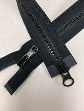 """20"""" inch Black #5vs YKK Separating Dual Metal Pulls"""
