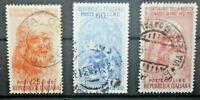 REPUBBLICA ITALIA REPUBBLICA 1952 LEONARDO DA VINCI SERIE TIMBRATA USED (C.X)