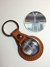 ROLLS ROYCE MOTORS  LEATHER KEY RINGS + FREE R.R. STICKER