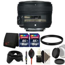 Nikon AF-S NIKKOR 50mm f/1.8G Lens and Accessory Bundle For Nikon D7100 , D7200