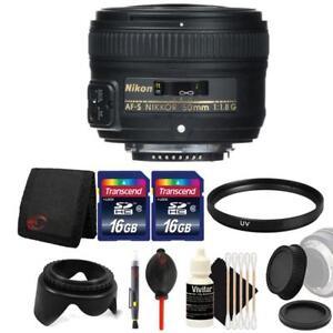Nikon AF-S NIKKOR 50mm f/1.8G Lens and Accessory Bundle For Nikon D7100 , D7200