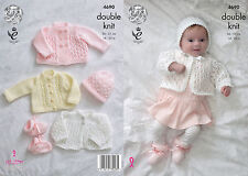 KINGCOLE 4690 BABY DK KNITTING PATTERN  14-20 IN -not the finished garments