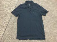 J Crew Men's Tall Broken-In Pocket Polo Shirt  Large Short Sleeve Blue 11195
