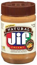 LOT OF (3) JIF NATURAL CREAMY LOW SODIUM PEANUT BUTTER - 16 OZ JAR - 3 LBS