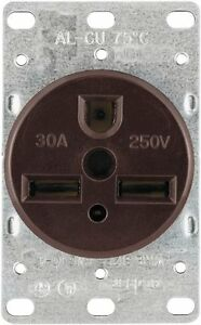 Eaton 1234 30-Amp 2-Pole, 3-Wire 250-Volts Heavy Duty Grade Flush Mount Power Re