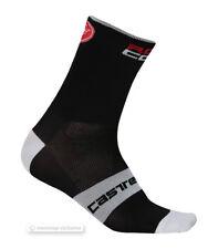 Castelli ROSSO CORSA 9 cm Tall Cuff Cycling Socks : BLACK One Pair
