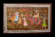 Hanging Wall Silk Painting Art Mughal Dromedary India 28x19 5/16in B6 1179