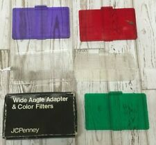Vintage JCPenney Wide Angle Adapter & Color Filters with Box