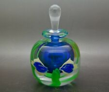 "ROBERT HELD Flowers Vintage Art Glass Perfume Bottle,Apr 5""Hx3""W"