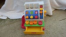 1994 Fisher Price Cash Register With 4 Coins Works