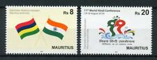 Mauritius 2018 MNH Diplomatic Relations with India 2v Set Flags Stamps