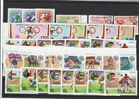 Liberia Mixed Sports Cancelled Stamps mostly Olympics ref R 18543