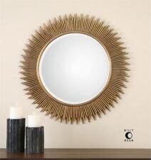 Gold Wall Mirror Round Sunburst Large 36� Modern Bath Vanity Foyer