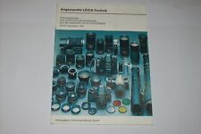 VINTAGE BOOK FOR LEICA CAMERAS LENSES AND ASSECCORIES IN GERMAN LANGUAGE