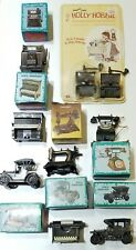 VINTAGE LOT OF 10 MINIATURE DIE CAST PENCIL SHARPENERS TRINKETS NICE!