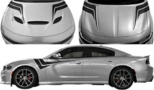 Hood to Fender Z Vinyl Graphic Decal Stripes for Dodge Charger 2015 & Up
