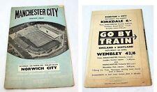 Norwich City Football FA Cup Fixture Programmes