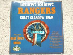 GLASGOW RANGERS - FOLLOW! FOLLOW! - HM 555 - (1968) VINYL LP RECORD (TESTED EX+)