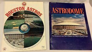 Lot of 2 1960's Houston Astros Program 1976 Astrodome Program1968