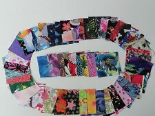 "100 assorted 2.5"" squares pre cut cotton quilting fabric add to stash die cut"