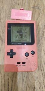 Console NINTENDO Game Boy Pocket Rose Pink GBP avec cache pile + 1 JEU