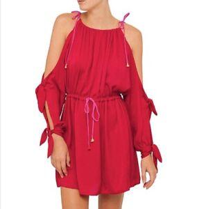 Australian Designer Bec & Bridge Pink Tales Of Tassel Cocktail Dress. Sz 8