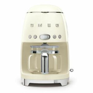 Smeg DCF01CRUK 50's Retro Cream Drip Coffee Machine, Customer Return, Dented