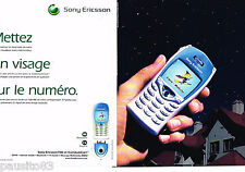 PUBLICITE ADVERTISING 075  2002  SONY ERICSSON  mobile T68i & communicam (2p)