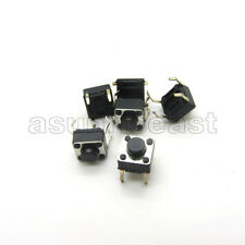 100 x DIP 6x6x5mm Tact Tactile Push Button Switch Momentary 4 Pin Black