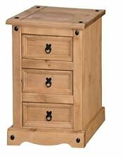 Home Furniture Trade Corona 3 Drawer Bedside Cabinet Table Light Fiesta Wax NEW