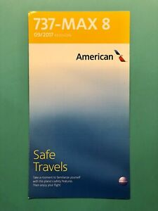 AMERICAN AIRLINES SAFETY CARD--737 MAX