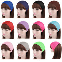 Women Ladies Cotton Wide Plain Hair Band Turban Scarf Elastic Headband Hairband