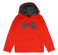 Under Armour Boys Red & Gray Pull-Over Logo Hoodie Size 5