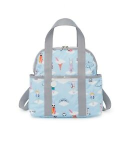 NWT Lesportsac Double Trouble Backpack Fifi Lapin Blue Day Dreaming Bag Rare