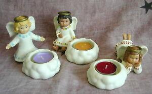 - PartyLite - 3 Teelichtkerzenhalter - ENGEL - 3 Kerzenhalter -