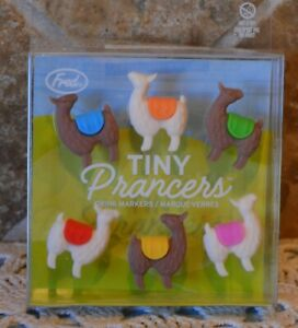 TINY PRANCERS~LLAMA DRINK MARKERS~BY FRED~CLIPS 2 EDGE OF GLASS~NIP~NO PROBLLAMA
