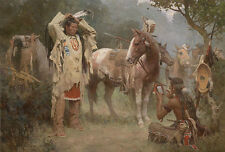 """Preparing for the Confrontation"" Z. S. Liang Western Fine Art Giclee Canvas"