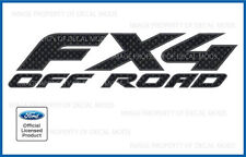 set of 2: Ford F150 FX4 Off Road Decals - FCFB carbon fiber black stickers 97-08