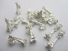 10 Paris Eiffel Tower Silver Plated Craft Charm/Bead/Beading/Jewelry/finding Q5