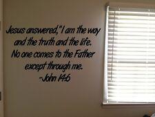 John 14:6 Bible Verse Christian I am the Way Vinyl Wall Decal Quote Sticker