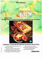 PUBLICITE  1971   VITHO  CLAFOUTINE  dessert aux druits