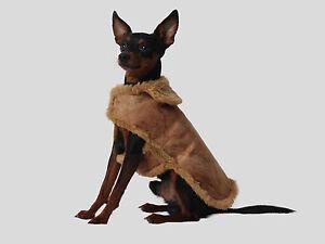 Hundejäckchen verziert Used Look Hunde Mantel Hundemantel Hundejacke  19cm