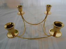 BEAUTIFUL SOLID BRASS 4-ARM CANDLE HOLDER CANDLEABRA ~ UNIQUE DESIGN ~ HEAVY