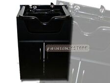 Acrylic Fiber Shampoo Bowl Wood Cabinet Salon Equipment